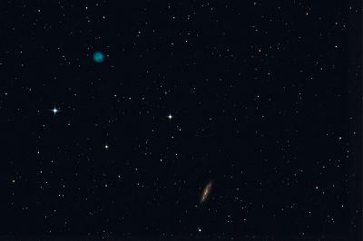 M97 (Owl nebula), M108(Surfboard galaxy) - астрофотография