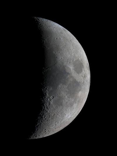 Панорама Луны в прямом фокусе - астрофотография