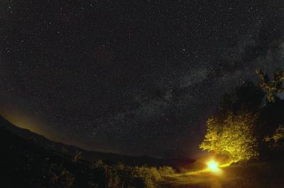 Ночёвка у костра или отель тысячи звёзд - астрофотография