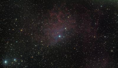 IC 405 (Туманность пламенеющей звезды) - астрофотография