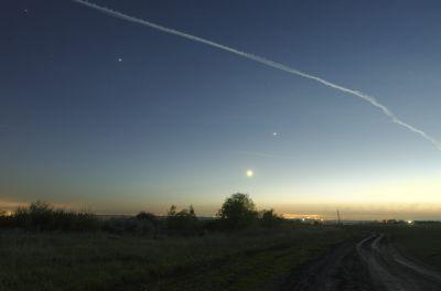 Вечерний пейзаж - астрофотография
