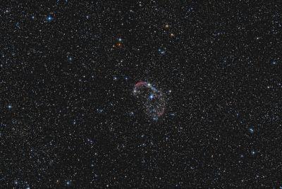Crescent nebula - NGC 6888 - астрофотография