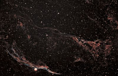 Western Veil Nebula NGC6960 and Pcikerings Triangle - астрофотография
