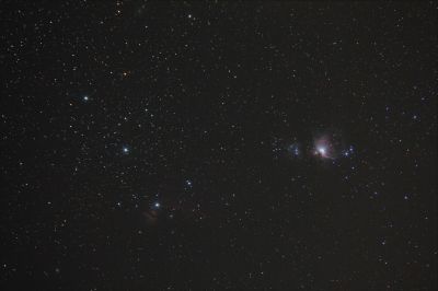 M42, Flame, С/2020 M3 (ATLAS). - астрофотография