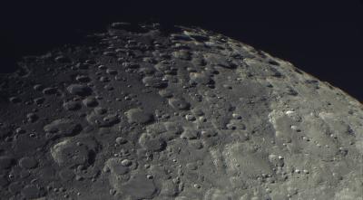 Луна, южный полюс 09.08.2020 - астрофотография