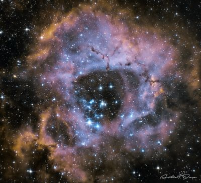 NGC 2237 Rosette nebula - астрофотография