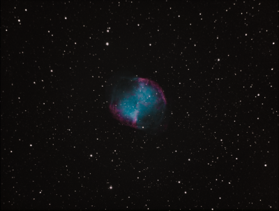 M27 Dumbbell Nebula. (Narrow Bands to CMYK) - астрофотография