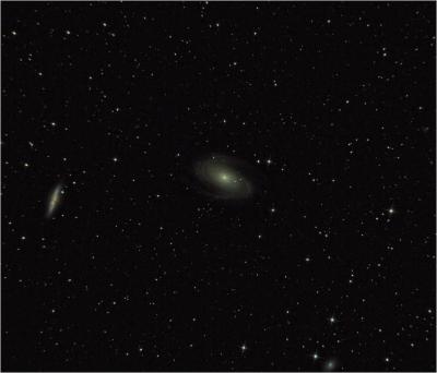 Галактики М81 и М82 в созвездии Большой Медведицы - астрофотография