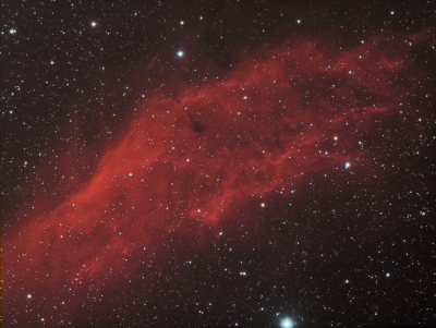 NGC 1499 California Nebula HaRGB - астрофотография