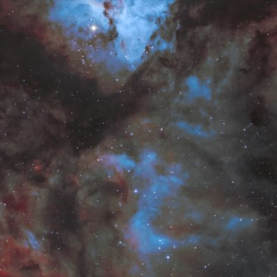NGC 3372 Туманность в Киле - астрофотография