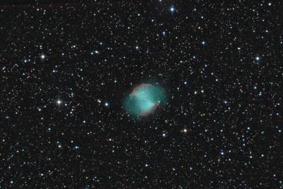 """М27 - планетарная туманность """"Гантель"""" - астрофотография"""