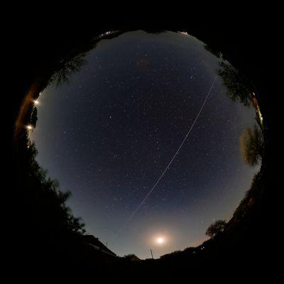 МКС через все небо - астрофотография