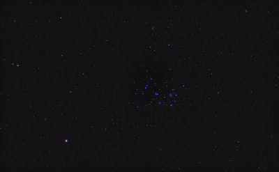 Марс и Плеяды в марте 2019 - астрофотография