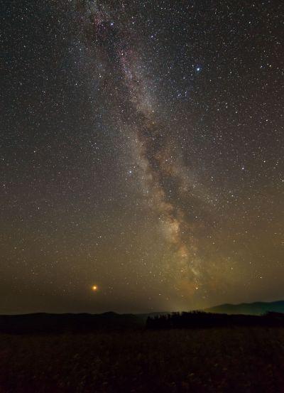 MILKY WAY AND MARS - астрофотография