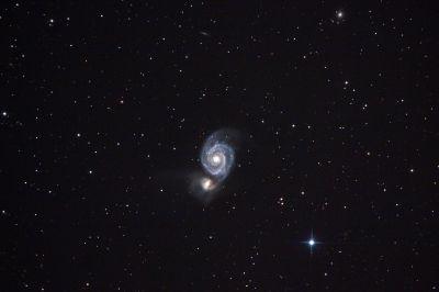 Whirlpool Galaxy - M51 - астрофотография