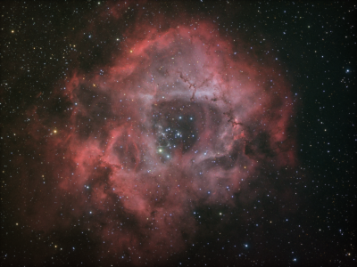 NGC2237 Rozette Nebula HaOIIIRGB - астрофотография