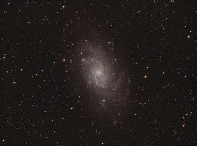 M 33 Triangulum Galaxy HaRGB - астрофотография