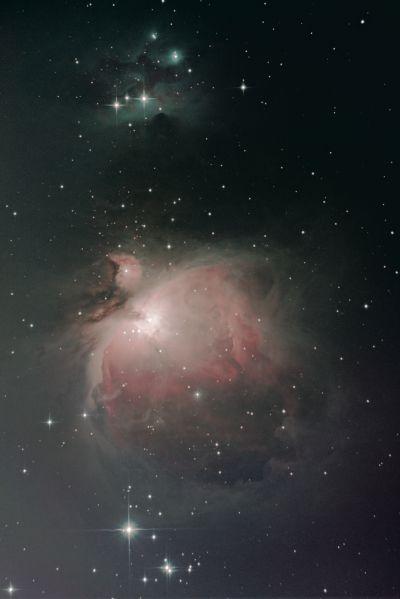 Туманность Ориона (M42), M43, NGC 1977 - астрофотография