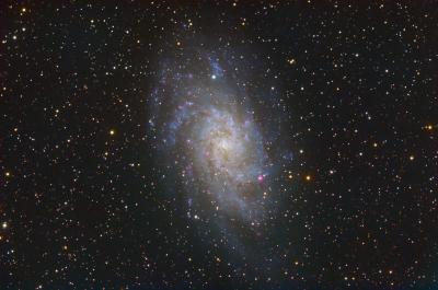 Галактика М33 (M33 Galaxy) вариант2 - астрофотография