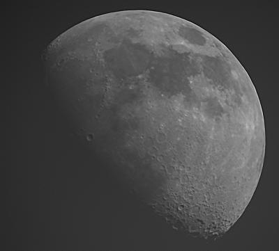 РАСТУЩАЯ ЛУНА НА ДНЕВНОМ НЕБЕ 19.06.21 - ИК-фильтр - астрофотография