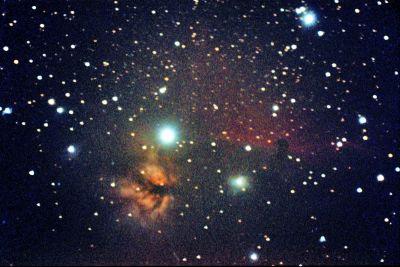 Пламя и Конская голова  - астрофотография