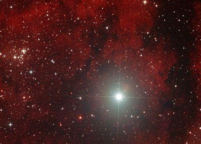 NGC 6910 и Садр - астрофотография