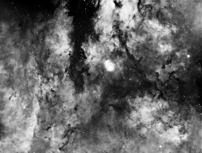 Садр (Гамма Лебедя) - астрофотография