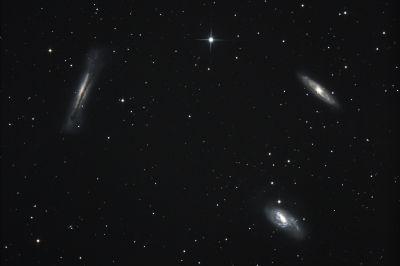 Leo Triplet - M65 M66 NGC 3628 - астрофотография