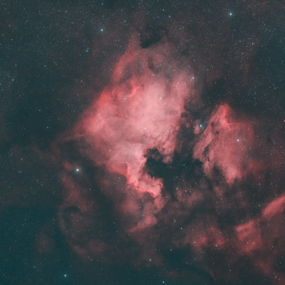 The North America Nebula and the Pelican Nebula in the constellation Cygnus - астрофотография