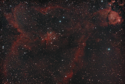"""Туманность IC1805  """"Сердце"""" - астрофотография"""