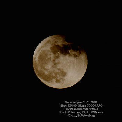 Moon Eclipse - астрофотография
