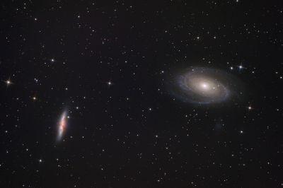 Галактики Боде и Сигара (М81 и М82) - астрофотография