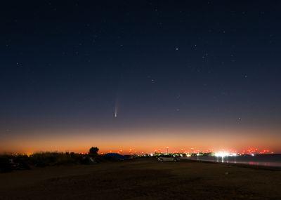 C/2020 F3 NEOWISE перед рассветом - астрофотография