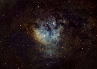 Безымянная туманность NGC 7822 - астрофотография