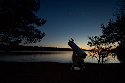 Palydint Oriono ūką - астрофотография