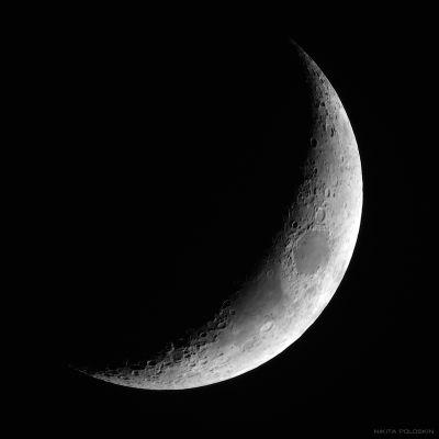 Луна 17 января - астрофотография