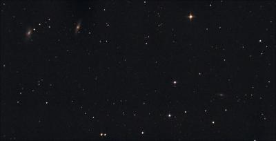 Трио галактик NGC 3628, М 65 и М 66. М 66 в созвездии Льва. 10.04.2021.  - астрофотография