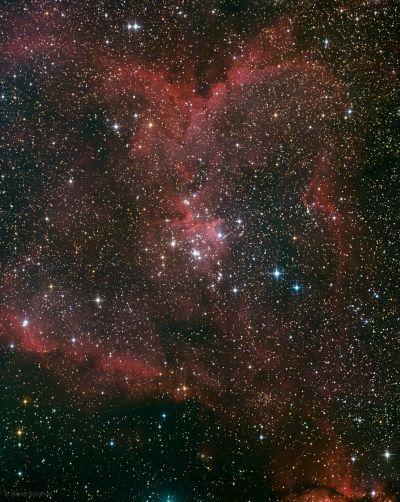 IC1805. 2x2 mosaic. after second night - астрофотография