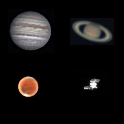 Юпитер, Сатурн, Марс, МКС - астрофотография