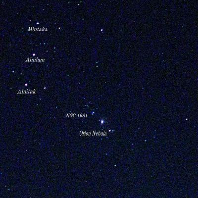 Большая Туманность Ориона и её окрестности на небесной сфере.  - астрофотография