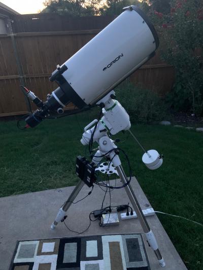 "Orion 10"" f/8 Ritchey-Chretien astrophotography rig - астрофотография"