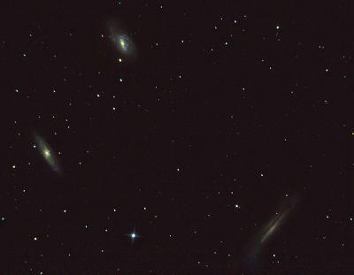 Триплет Льва (группа М66) - астрофотография