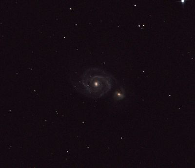 M51 and NGC 5195 Galaxies - астрофотография