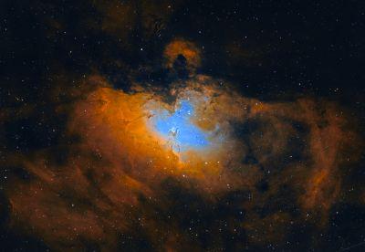M16 RGB+HOO - астрофотография
