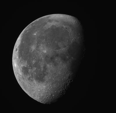 Убывающая Луна 09.08.2020 - астрофотография