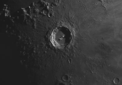 Кратер Коперник 19.06.2021 - астрофотография