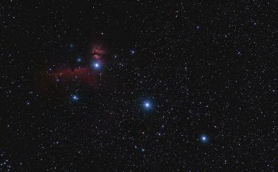 Пояс Ориона - астрофотография