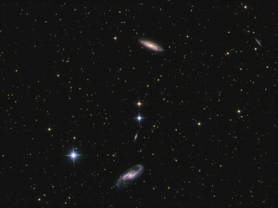 NGC 4527, 4533,4536 in Virgo LRGB - астрофотография