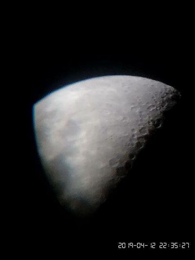 Moon on Smartphone - астрофотография