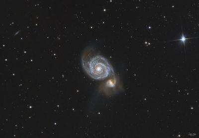 M51 Whirlpool galaxy - астрофотография